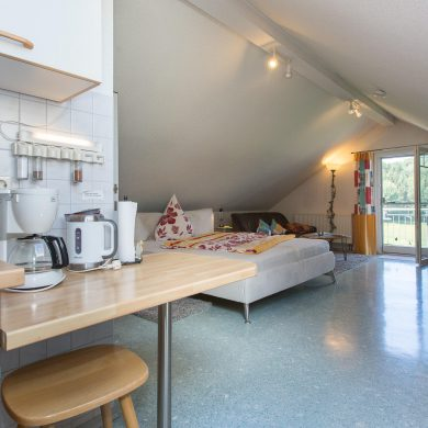 Wohn-Schlafzimmer mit Küche Sternenhimmel